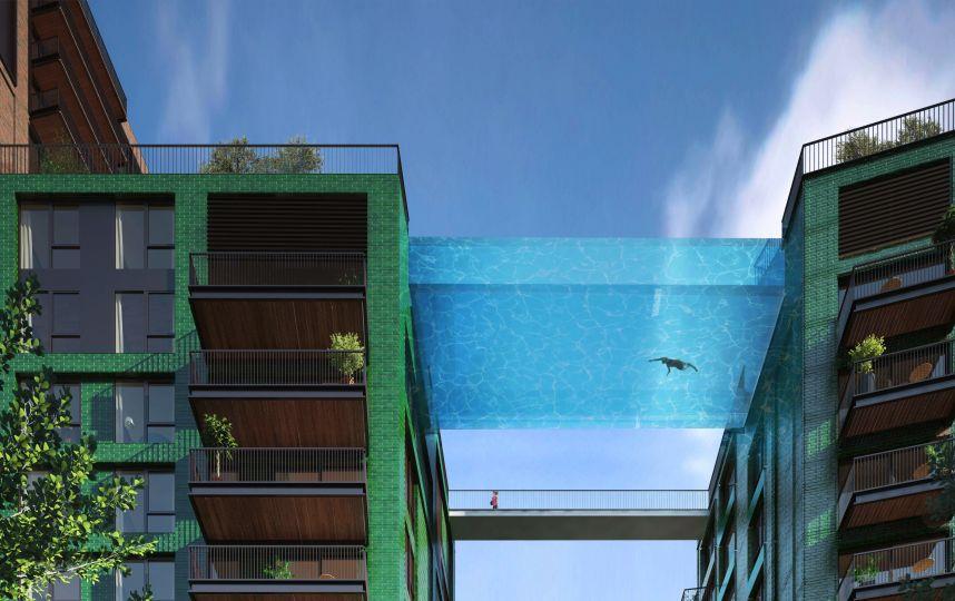 la piscine suspendue au dessus du vide c est pour bient t ForPiscine Entre 2 Immeubles