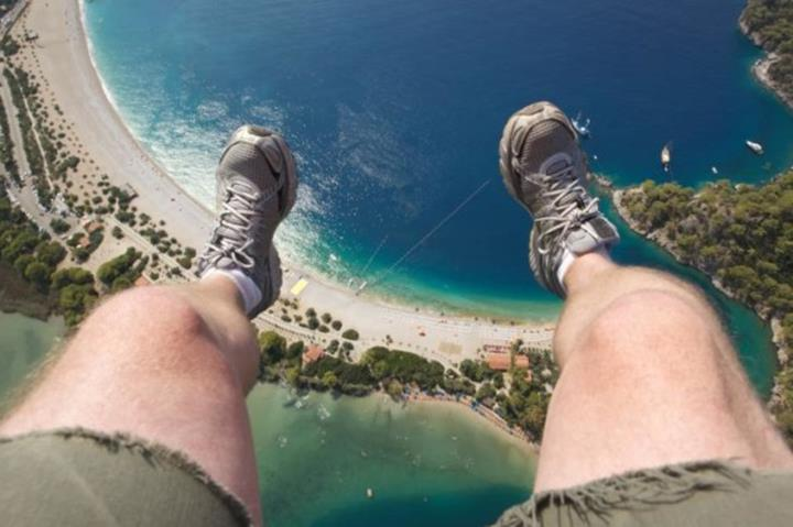 Dangling at 3000 feet from Paraglider